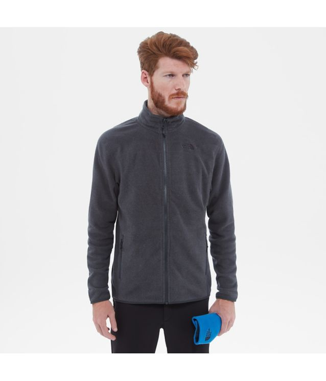 100 Glacier Jacke Tnf Dark Grey Heather