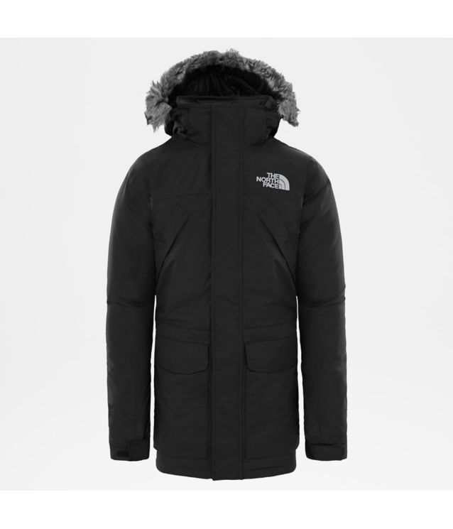 New Peak Parka Tnf Black/High Rise Grey