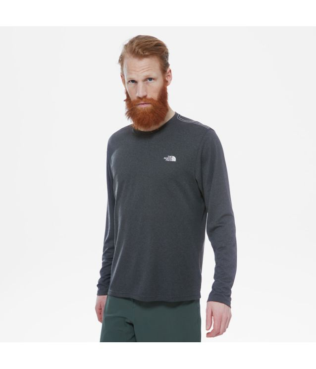 Reaxion Amp Langarmshirt Tnf Dark Grey Heather